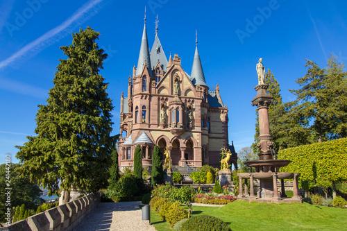 Leinwanddruck Bild Schloss Drachenburg im Siebengebirge, Deutschland