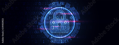 Secure digital space. Virtual confidential, programming protection. - 241450923