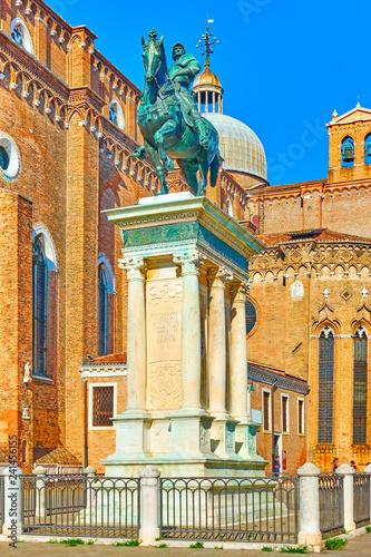 obraz PCV Equestrian statue of Bartolomeo Colleoni in Venice
