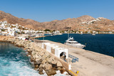 The main harbor of Serifos island in sunny day. Cyclades group in the Aegean Sea. Greece. - 241459973