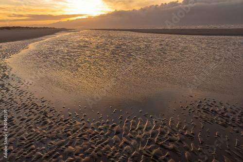 Sonnenaufgang am Strand von Blavand, Dänemark