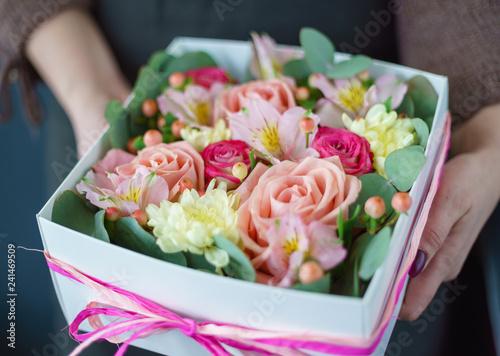 Leinwanddruck Bild nice bouquet in the hands