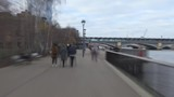 Time lapse. A walk on the riverside of the Thames River. - 241494526