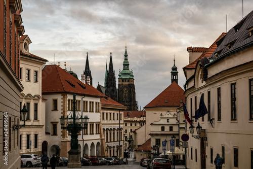 obraz PCV Stadtansicht mit Veitsdom im Hintergrund Prag in Tschechien