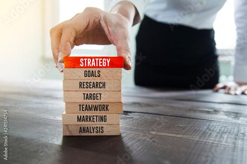 Leinwandbild Motiv Strategy Concept