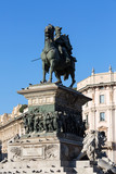 Monument to king Victor Emmanuel II on Cathedral Square , Milan, Italy