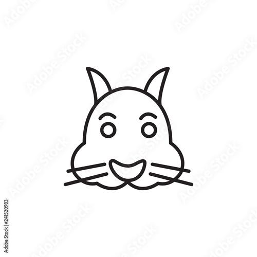 Cute rabbit in cartoon style. Vector illustration