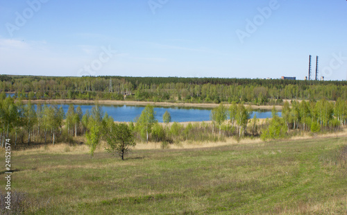 Sand quarry near Voskresensk, Moscow region, Russia - 241521574