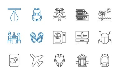 tourism icons set