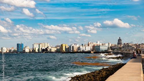 obraz PCV Malecon blick auf Havanna Kuba