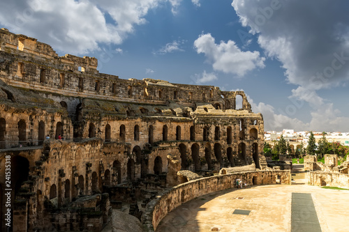 El Jem amphitheater in Tunisia.