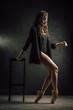 professional ballet dancer in poses