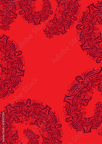 Background with floral ornament - 241547184
