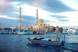 Hurghada, Egypt, December 2018 - The main mosque in the center of Hurghada - 241550787