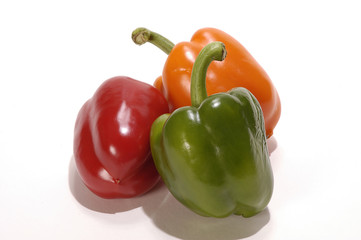 Large sweet colourful peppers © Philip