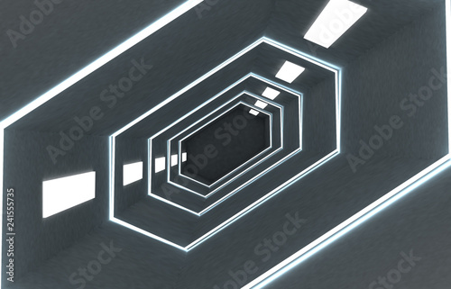 3d abstract background corridor .3d illustration