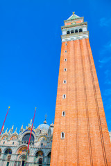 bell tower of St Mark's Basilica in Venice, Italy