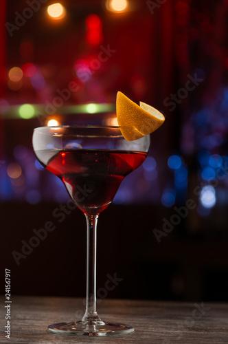 Сosmopolitan cocktail in bar