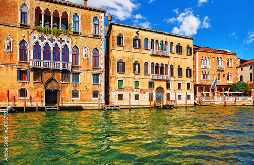 Venice, Italy. Grand Canal vintage street with old italian - 241567972