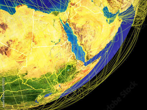 Northeast Africa on Earth from space
