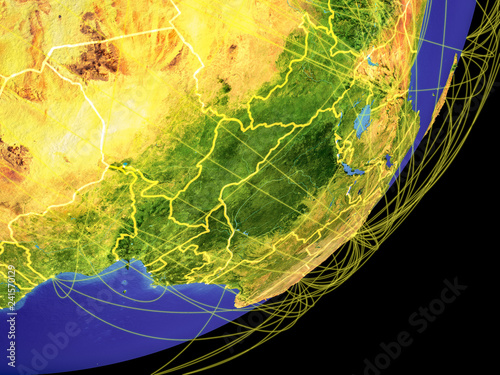 Central Africa on Earth from space