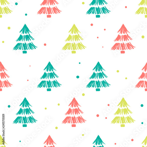 obraz PCV Seamless background with colorful trees