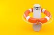 Skateboard with life buoy