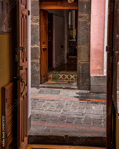 Architecture and street scenes in Quito Ecuador