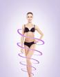 Leinwanddruck Bild - Fit, slender and beautiful woman posing in swimsuit