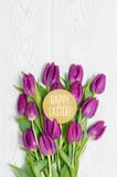 Ostern Tulpen Karte Grußkarte Textfreiraum
