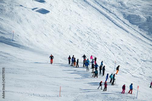 mata magnetyczna Skisport auf der Bettmeralp, Goms, Wallis, Schweiz