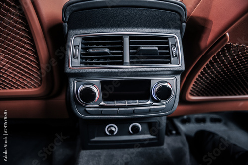 Top view of music and air conditioning system in car - 241579597