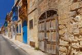 Valletta. Old medieval street. - 241587541