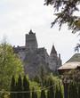 View of Bran famous castle in transylvania