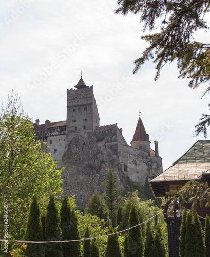 Leinwandbild Motiv View of Bran famous castle in transylvania