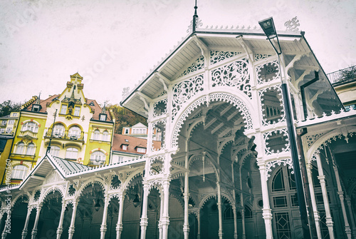 Typical architecture in Karlovy Vary, Czech, analog filter