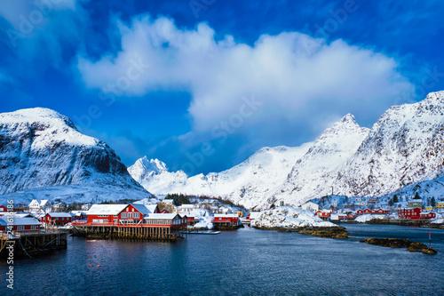 "Leinwanddruck Bild ""A"" village on Lofoten Islands, Norway"
