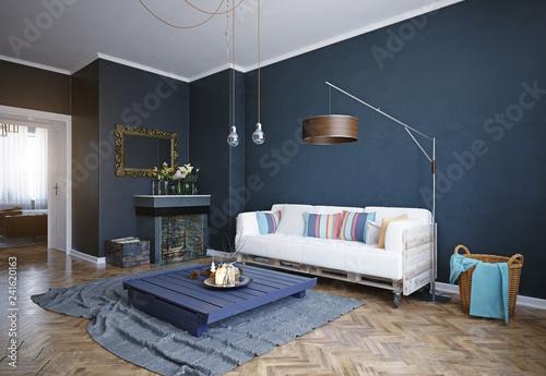 Leinwandbild Motiv modern living room interior.