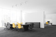 Conference room and open space office interior
