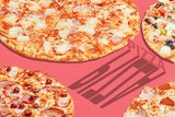 pizza pop art banner advertising concept