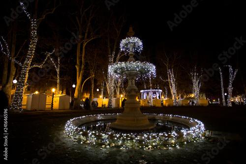 Park Zrinjevac in Zagreb in december