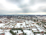 Aerial view of a small town in winter, Ontario, Canada - 241661747