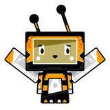 Adorably Cute Little Cartoon Block Bee Character