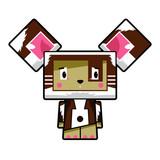 Cute Cartoon Block Dog Character