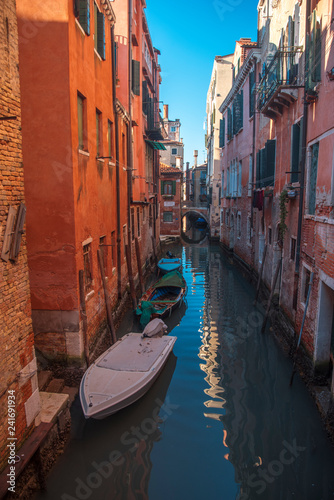 obraz PCV Water channels in the city of Venice