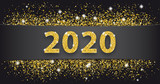 Black Paper Banner Golden Sand 2020 - 241696958