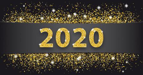 Black Paper Banner Golden Sand 2020
