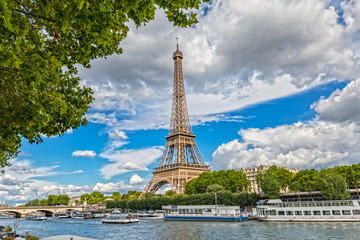 View over the Eiffel Tower in Paris