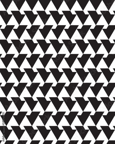 Trendy design with geometric shapes. Seamless  monochrome   patterns. Design for packaging, print, covers, cards, wrapping, fabric, paper, interior etc - 241704951
