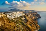 Thira town on the cliffs of Santorini island, Greece